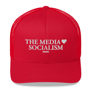 """The Media Love Socialism"" Trucker Hat"