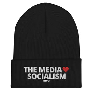 """The Media Love Socialism"" Cuffed Beanie"