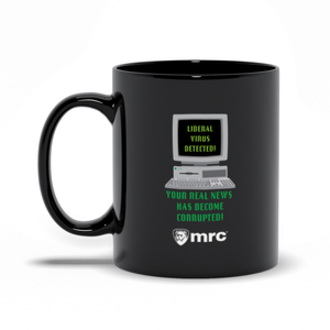 """Liberal Virus Detected"" Mug (Black)"