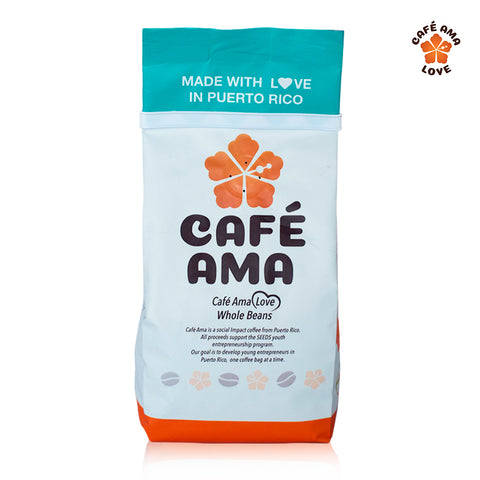 Café Ama Love Blend, Whole Bean, 8 oz.
