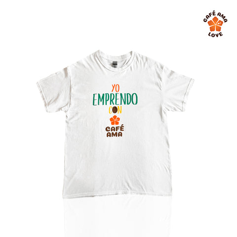 """Yo Emprendo con Cafe AMA"" T-Shirts (Round Neck)"