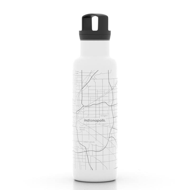 Indianapolis Map Insulated Water Bottle