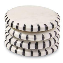 Load image into Gallery viewer, Black & White Marble Coasters, Set of 4