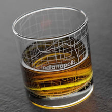 Load image into Gallery viewer, Indianapolis Map Whiskey Glass