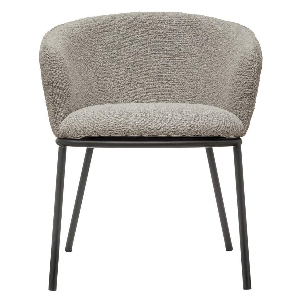 Boucle Fabric Chair