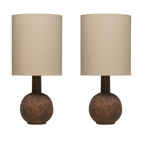 Embossed Terra Cota Lamp
