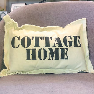 Cottage Home, Lumbar Neighborhood Pillow
