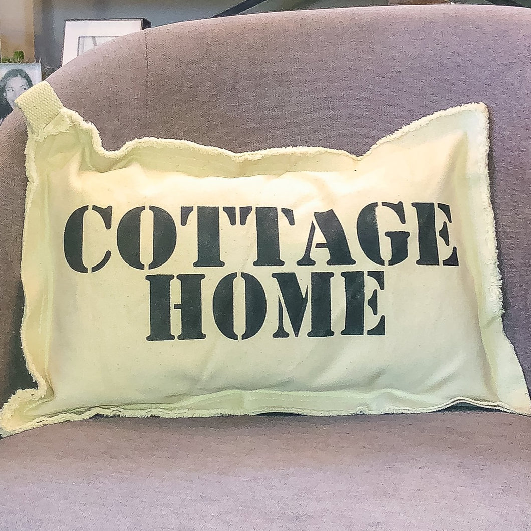 Cottage Home Neighborhood Pillow