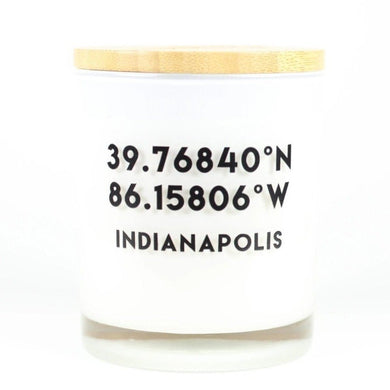Indianapolis Coordinates Soy Candle