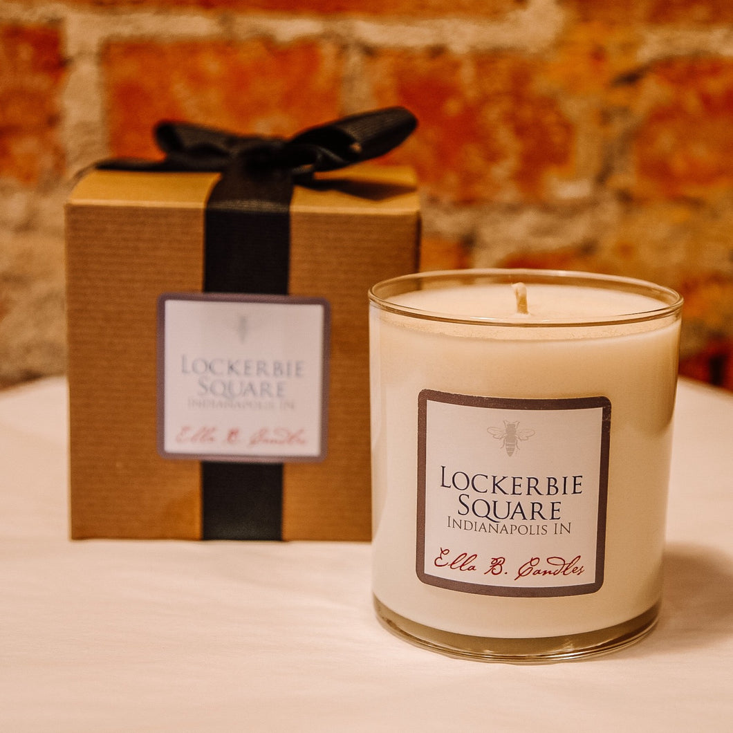 Lockerbie Square Neighborhood Candle
