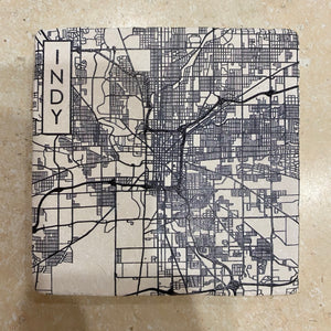 Indy Street Map Coaster
