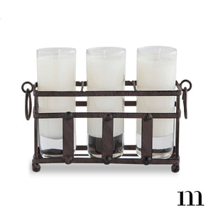 3 Votive Metal Holder