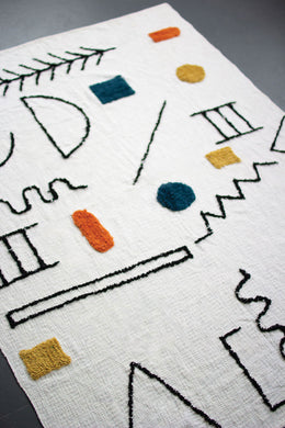 Doodle Tufted Throw