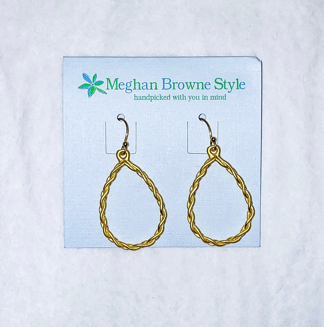 Raegan Goldtone Earring