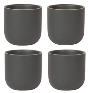 Black Orb Teacup - Set of 4
