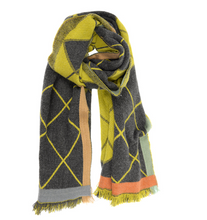 Load image into Gallery viewer, Mustard Argyle Scarf