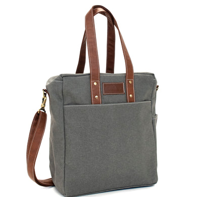 Waxed Ash Commuter Tote