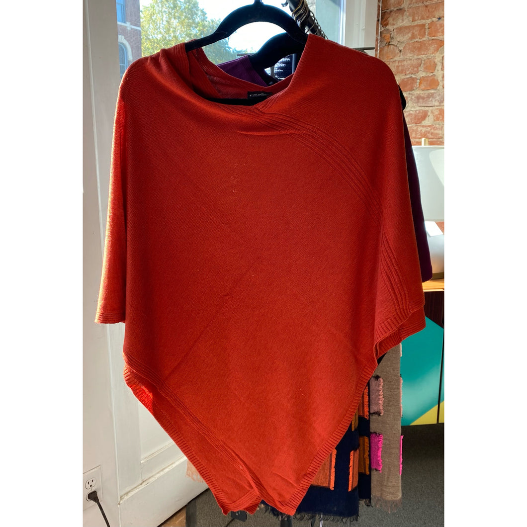 Triangle Ribbed Poncho