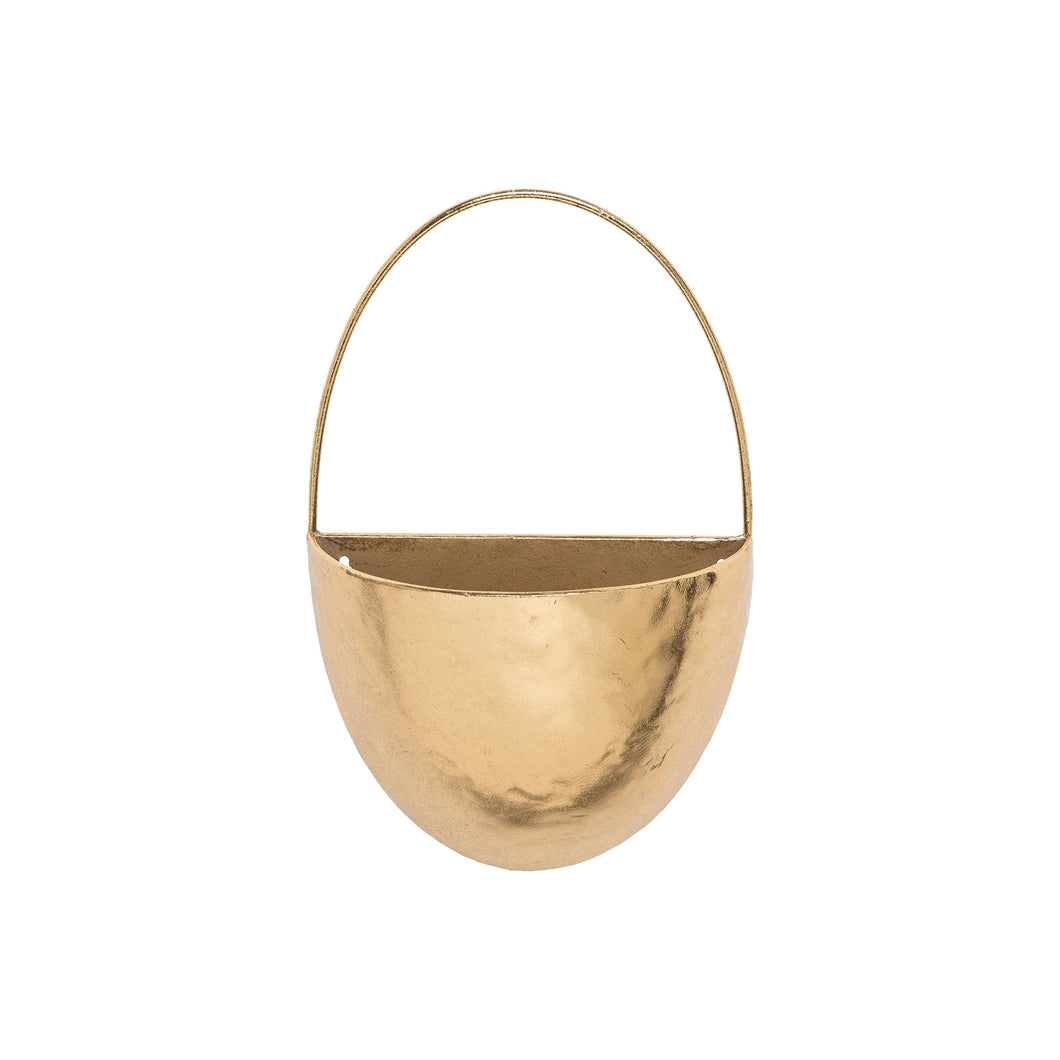 Modern Brass Wall Pocket