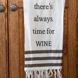 """Time for Wine"" Teatowel"