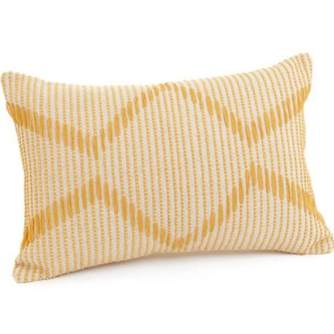 Yellow & Cream Textured Pillow