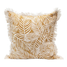 Load image into Gallery viewer, Cotton Slub Palm Frond Pillow
