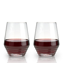 Load image into Gallery viewer, Deco Stemless Wine Glasses, Set of 2