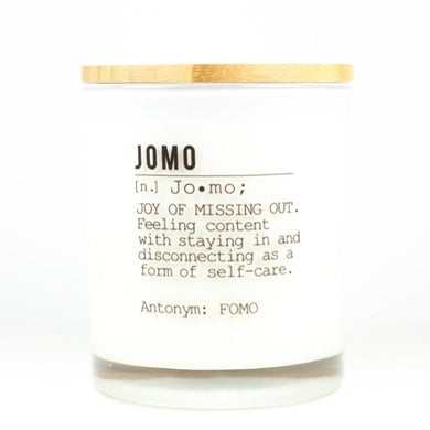 JOMO Definition Candle