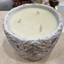 Load image into Gallery viewer, Jumbo White Stone Candle