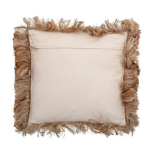 Load image into Gallery viewer, Square Jute Pillow