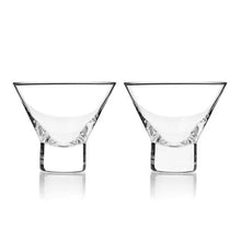 Load image into Gallery viewer, Crystal Martini Glasses, Set of 2
