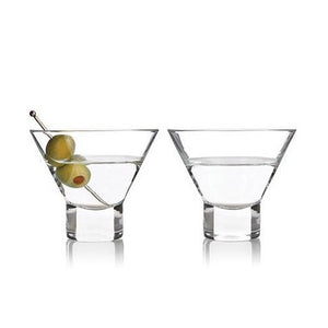 Stemless Martini Glasses - Set of 2