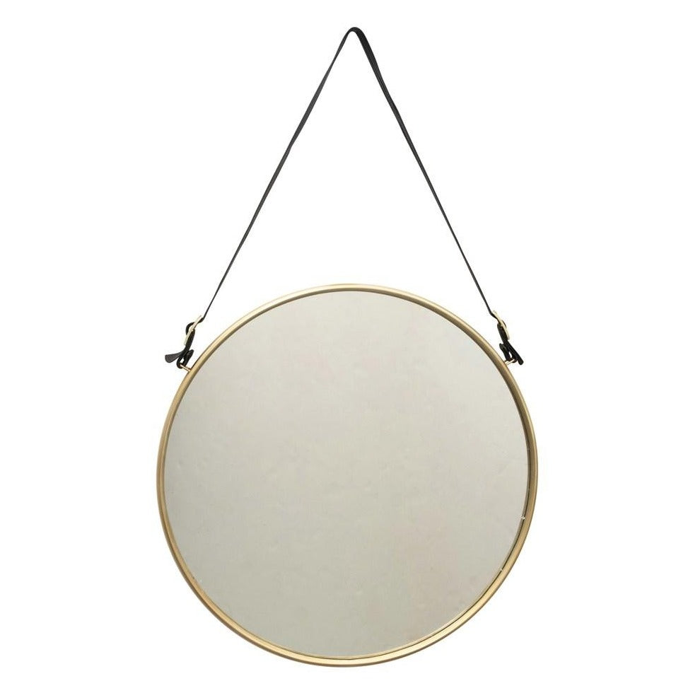 Metal Mirror with Buckle Strap