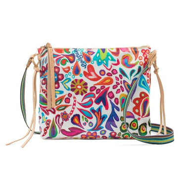 White Swirly Downtown Crossbody