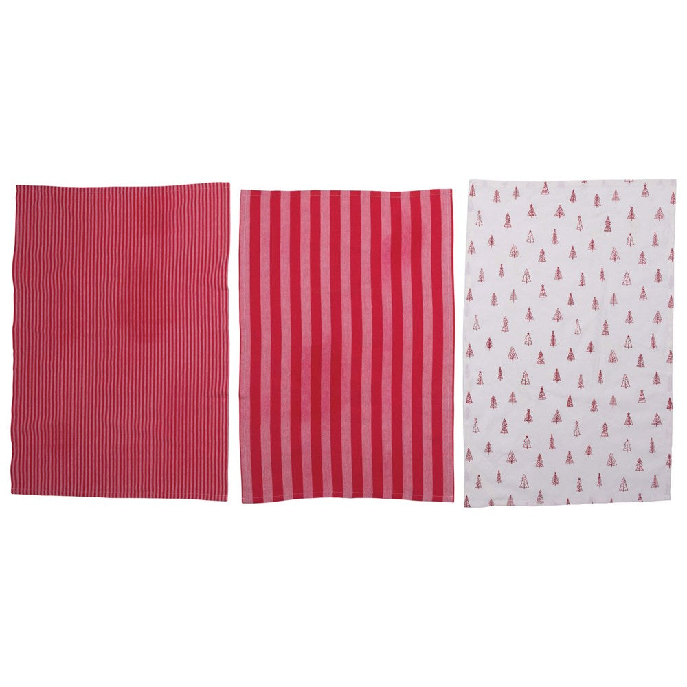 Red Dishtowels, Set of 3