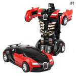 Kids Remote Control Car Transformer Robot Toy