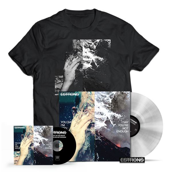 CLEAR LP + CD + T-SHIRT + ENAMEL PIN BADGE BUNDLE
