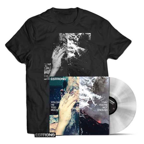 CLEAR LP + T-SHIRT + ENAMEL PIN BADGE BUNDLE