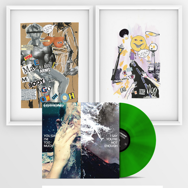 "TRANSLUCENT GREEN LP + ""BODY"" + ""LILAC"" ARTWORK PRINTS"