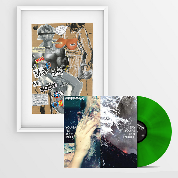"TRANSLUCENT GREEN LP + ""BODY"" ARTWORK PRINT"
