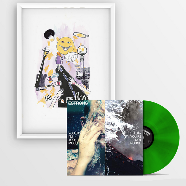 "TRANSLUCENT GREEN LP + ""LILAC"" ARTWORK PRINT"