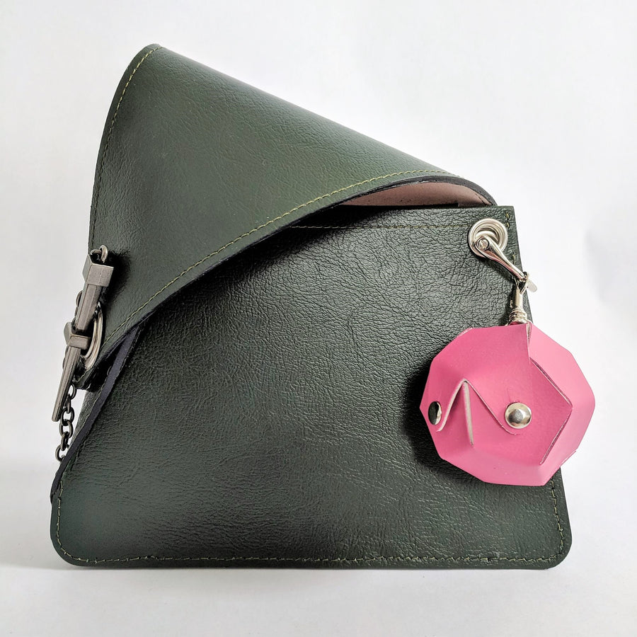 Dodecahedron Bag Charm - Fuschia