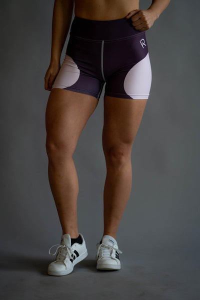 Flora Yoga Shorts - Mauve - Pump Apparel