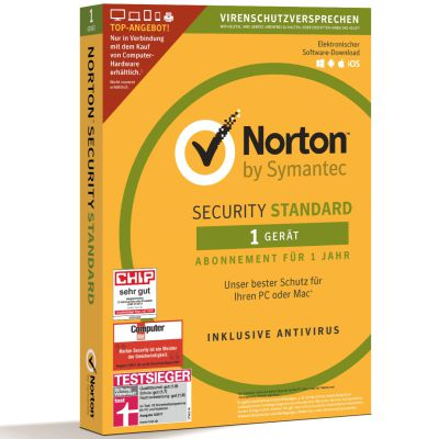 Norton Security Standard Inkl. Antivirus 1 PC / 1 Mac [1 Jahr] Abo - Estarta Computer