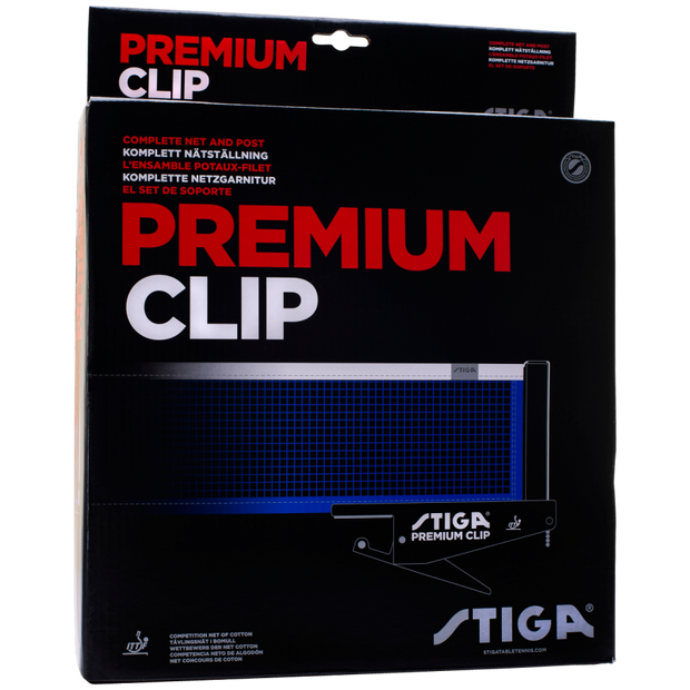 Stiga Premium Clip Match Net & Post Set