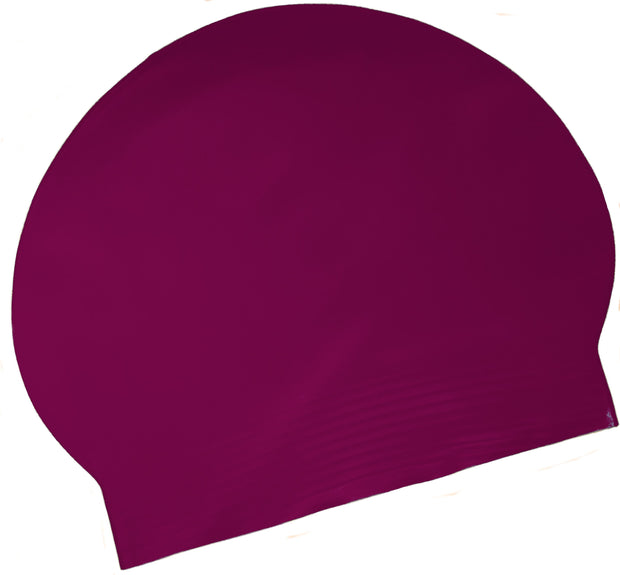 Latex Swim Cap - Maroon