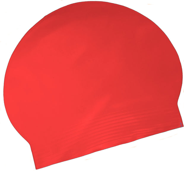Latex Swim Cap - Red