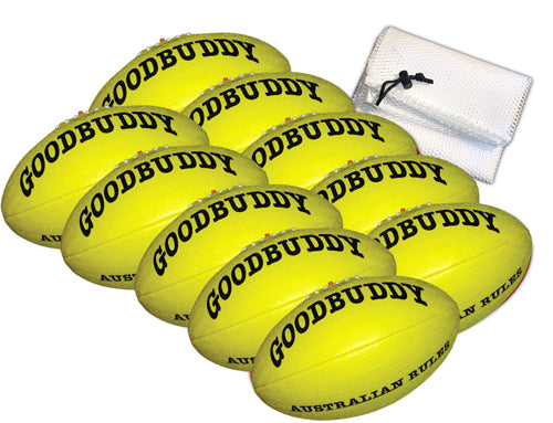 Goodbuddy Australian Rules Synthetic Leather Ball - Size 3 / Bag 10