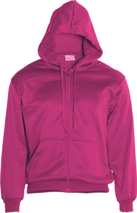 Zip Down Plain Hoodie - Adults