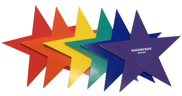Rubber Coloured Stars/Set x 6